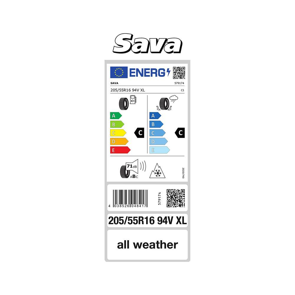 Sava 4 celoletne pnevmatike 205/55R16 94V All Weather XL