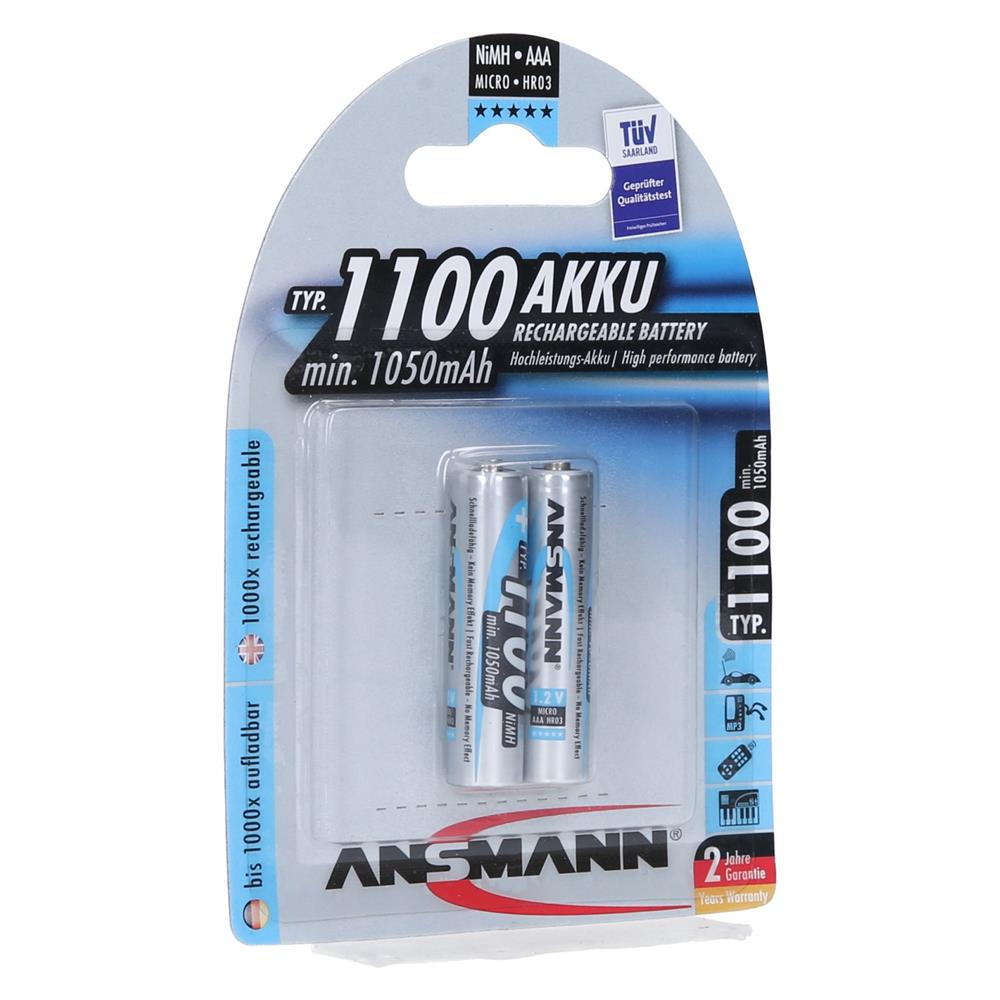 Ansmann NiMH polnilni baterijski vložek 2xAAA