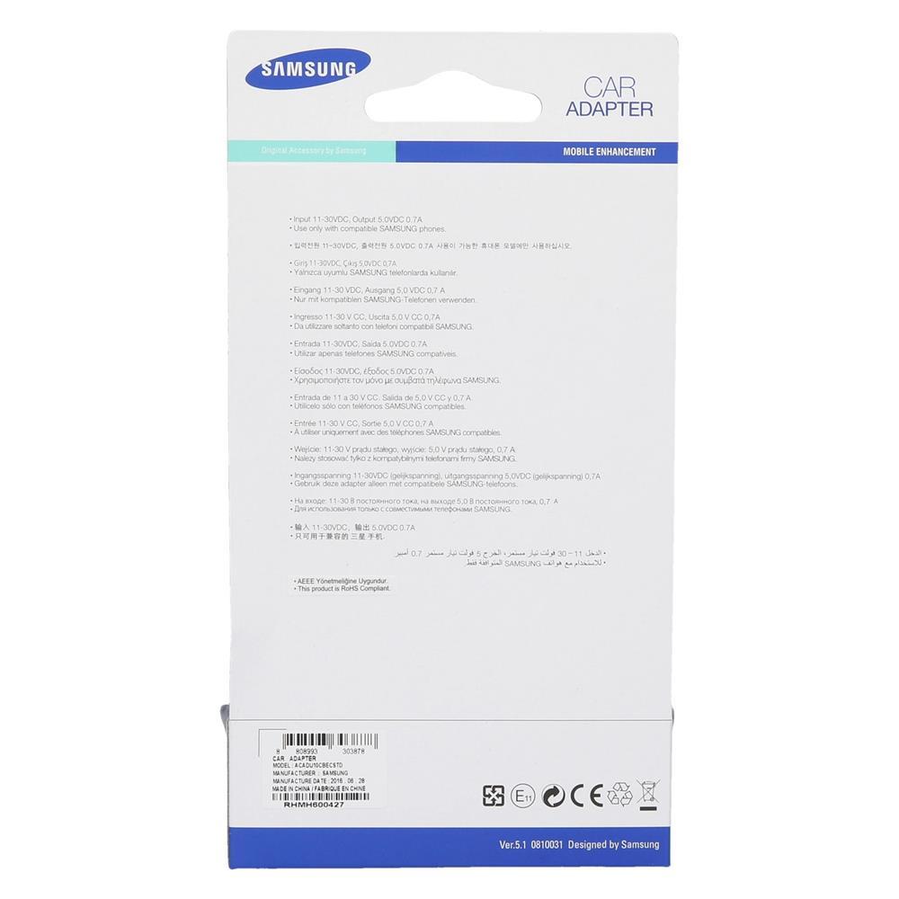 Samsung Avto polnilec Micro USB 12/24V (ACADU10CBECSTD)