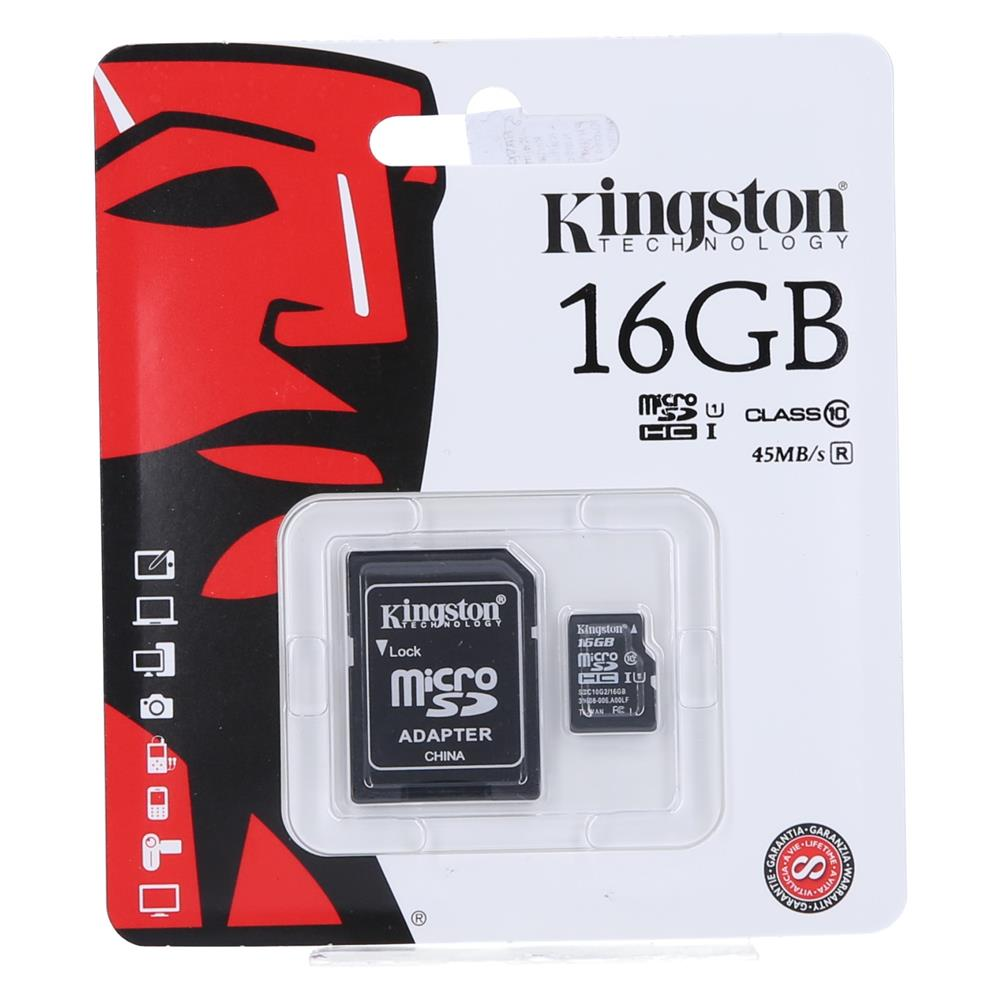 KINGSTON Kartica Micro SDHC 16GB Class10+adapter