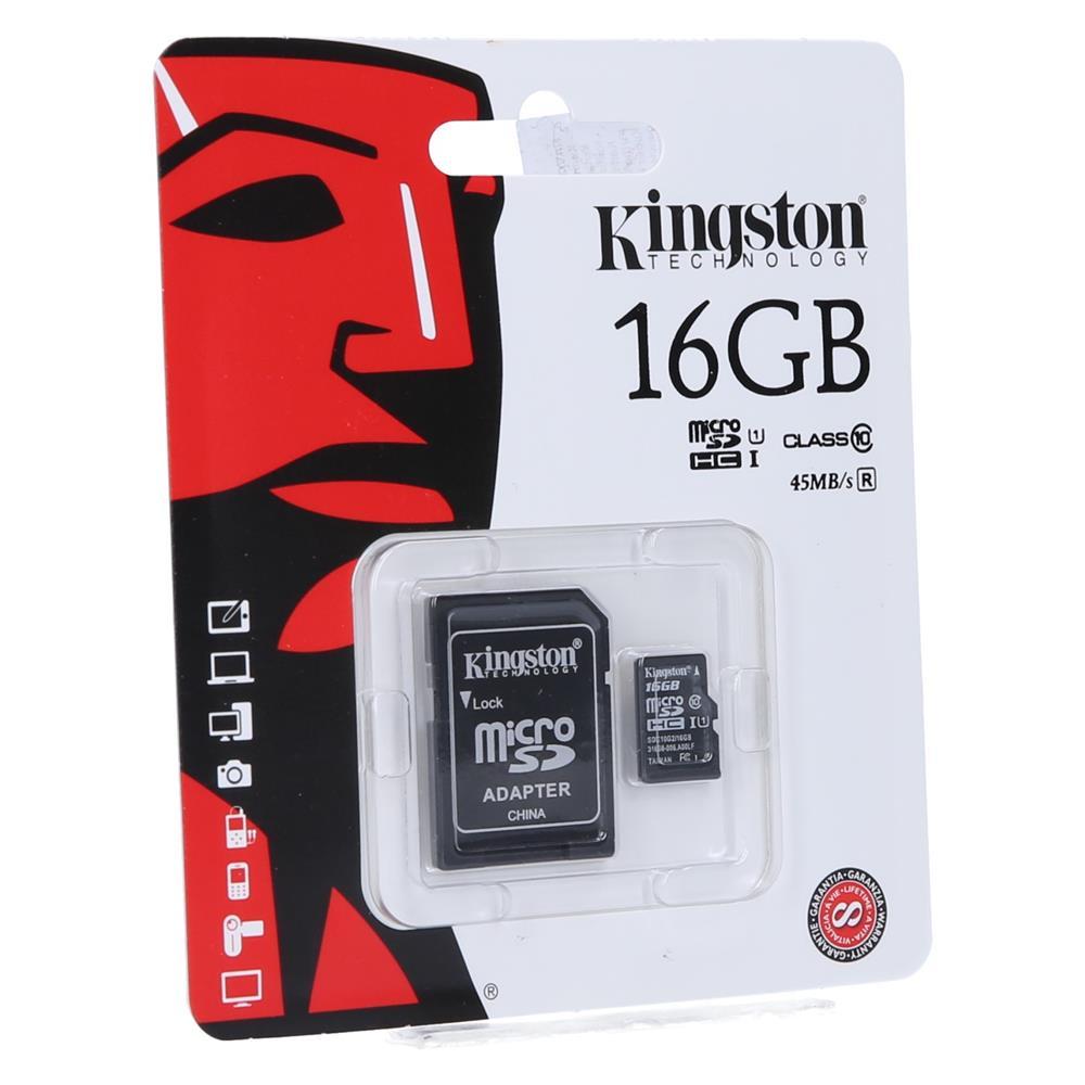 KINGSTON Kartica Micro SDHC 16GB Class10+adapter