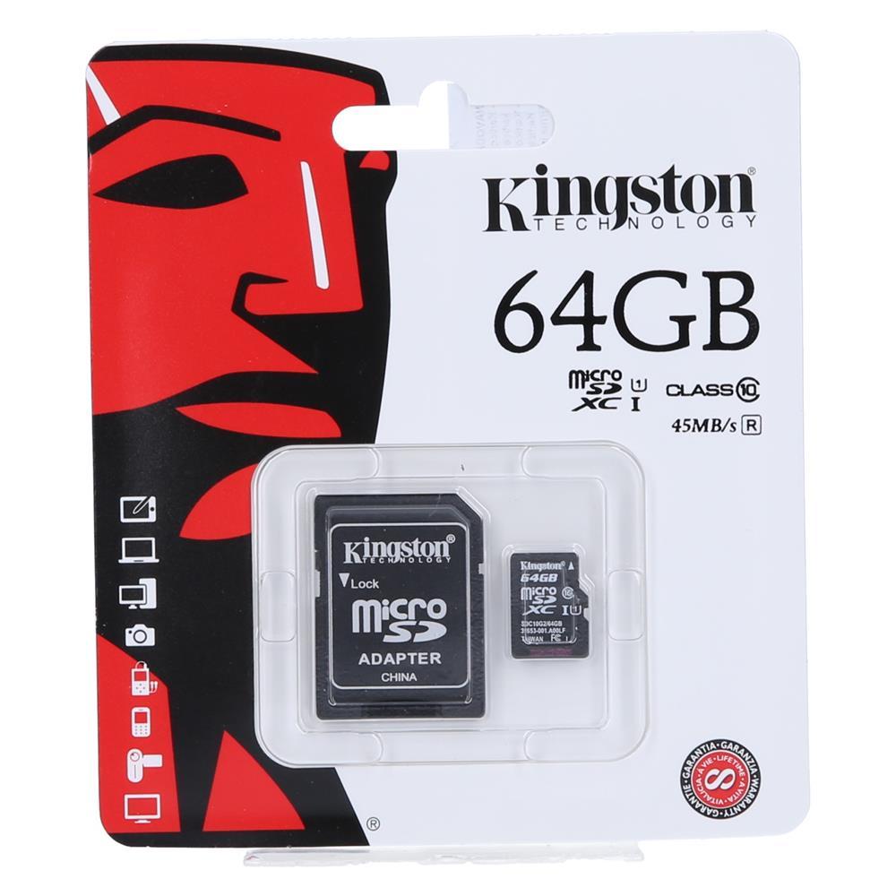 KINGSTON Kartica Micro SDXC 64GB Class10+adapter