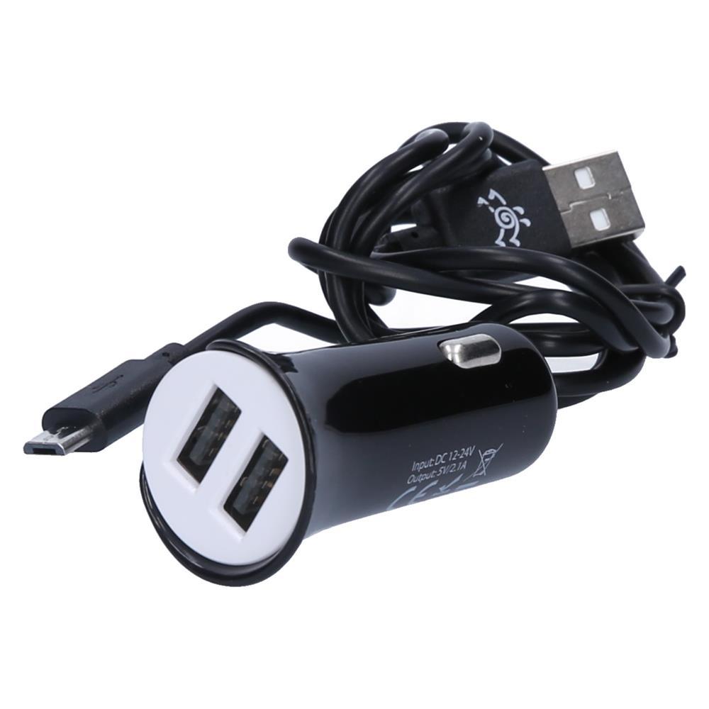 Telekom Slovenije Dvojni hitri avto polnilec + Micro USB kabel