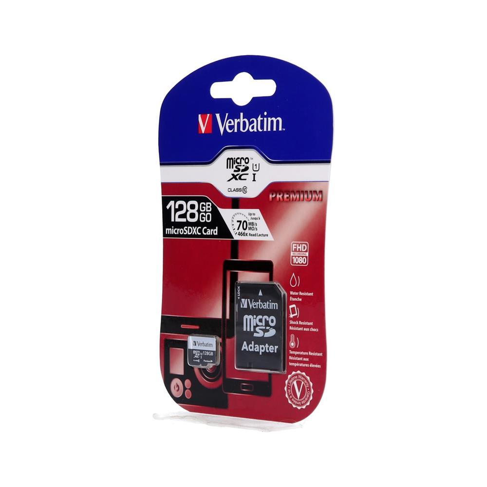 Verbatim MicroSDHC + SD adapter Class 10