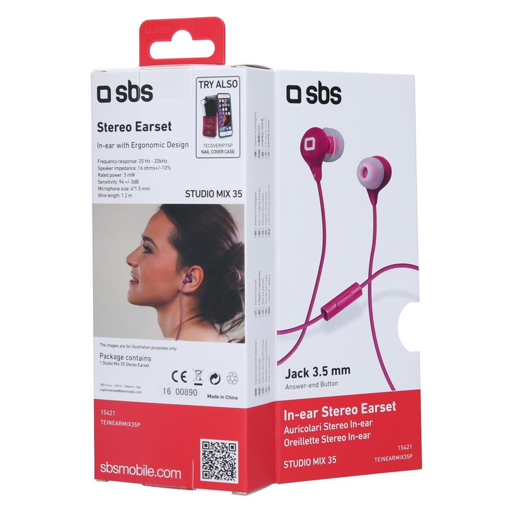 SBS Stereo slušalke Studiomix 35 (TEINEARMIX35P)