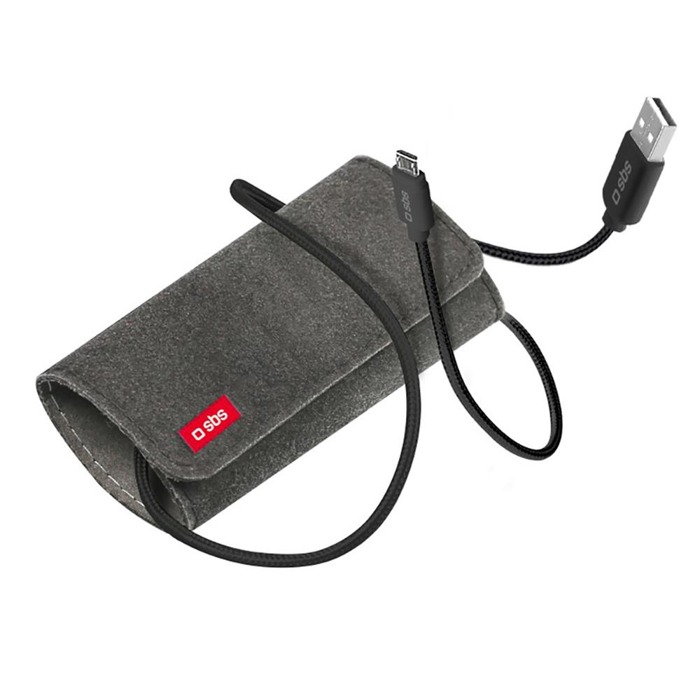 SBS Podatkovni Micro USB kabel s torbico (TECABLEMICROTRAVK)