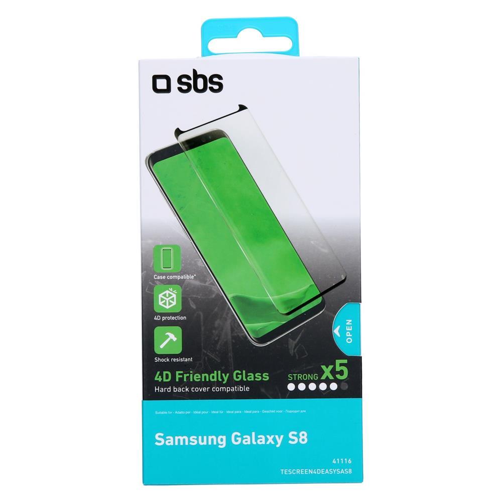 SBS Zaščitno steklo 4D (TESCREEN4DEASYSAS8)