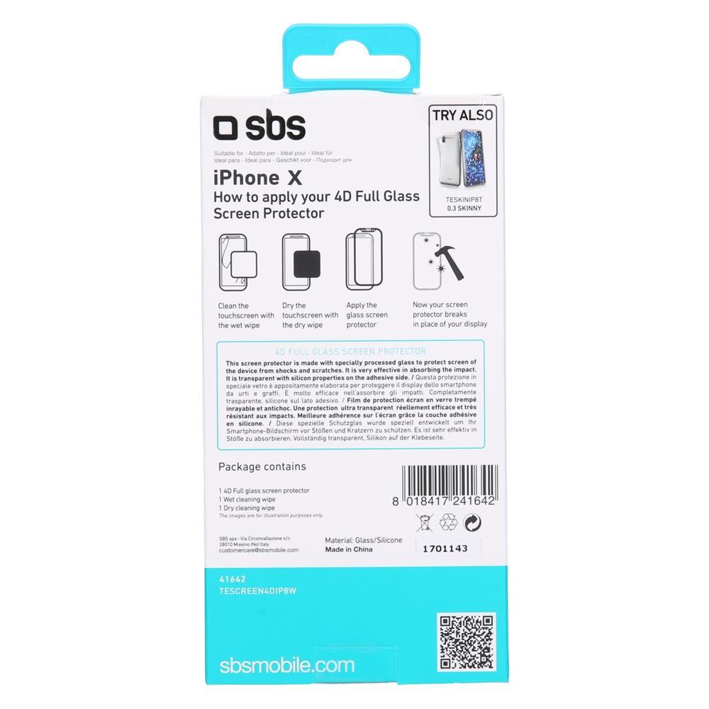 SBS Zaščitno steklo 4D (TESCREEN4DIPXW)