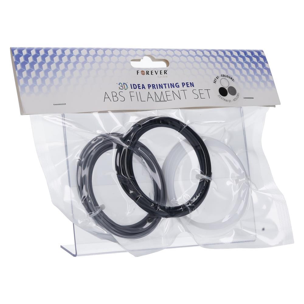Forever ABS polnilo za 3D Idea pisalo - črna/siva/bela