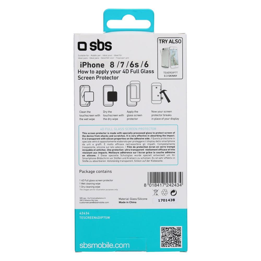 SBS Zaščitno steklo 4D (TESCREEN4DIP7SW)