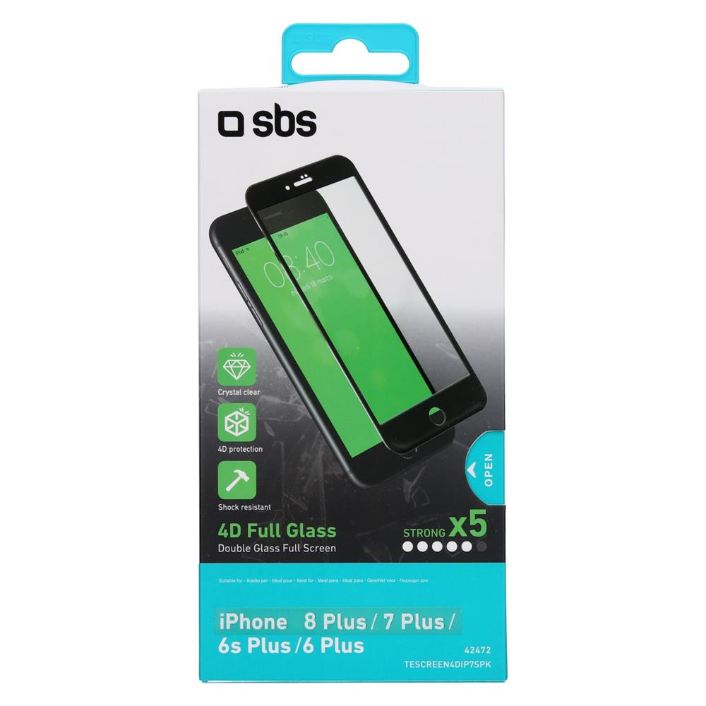 SBS Zaščitno steklo 4D (TESCREEN4DIP7SK)