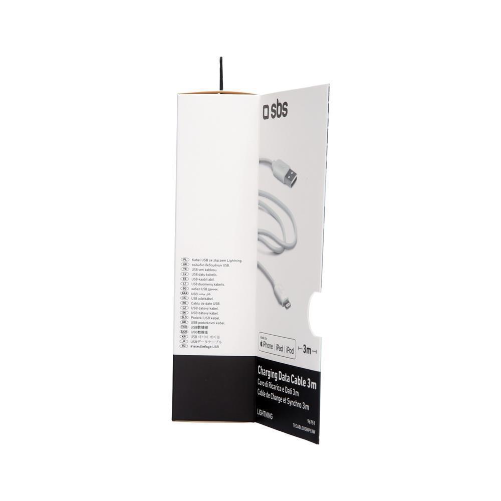 SBS Podatkovni in polnilni Lightning kabel (TECABLEUSBIP52W)