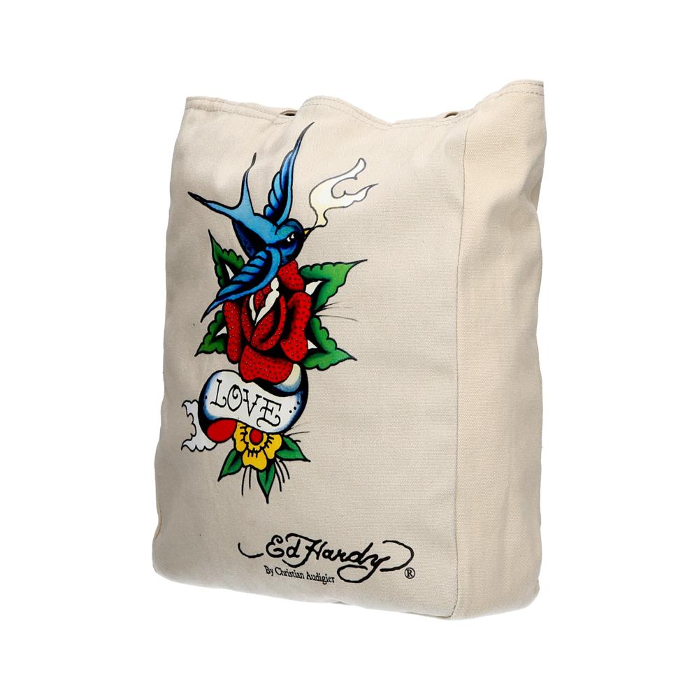 Ed Hardy Torbica Ness Bird Flower