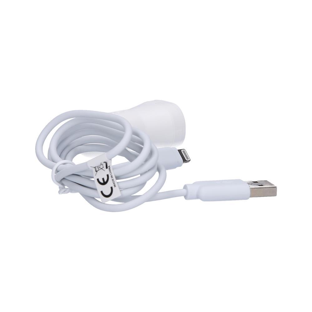 SBS Avtopolnilec 2.1 A in USB kabel Lightning(TEKITCRLH21AWFAST)