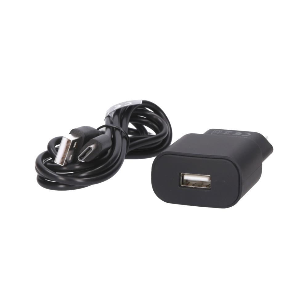 Forever Polnilec 220V USB 2A TC-01 in kabel type C