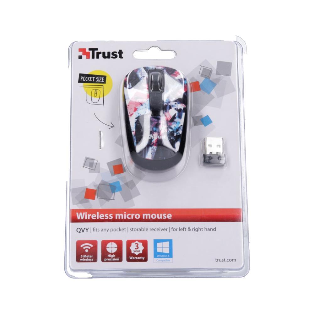 Trust Brezžična miška micro QVY