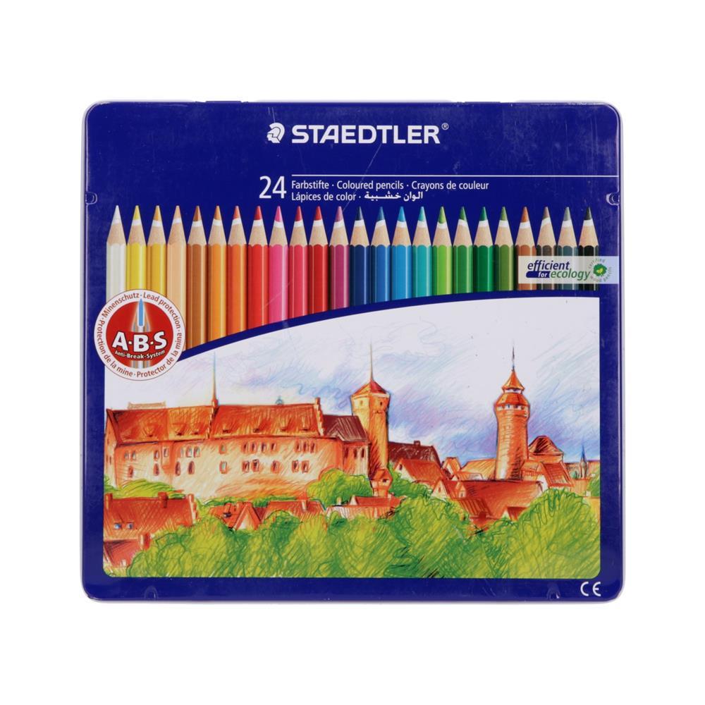 STAEDTLER Barvice ABS v kovinski škatli Gradovi 24/1 (145 CM24)