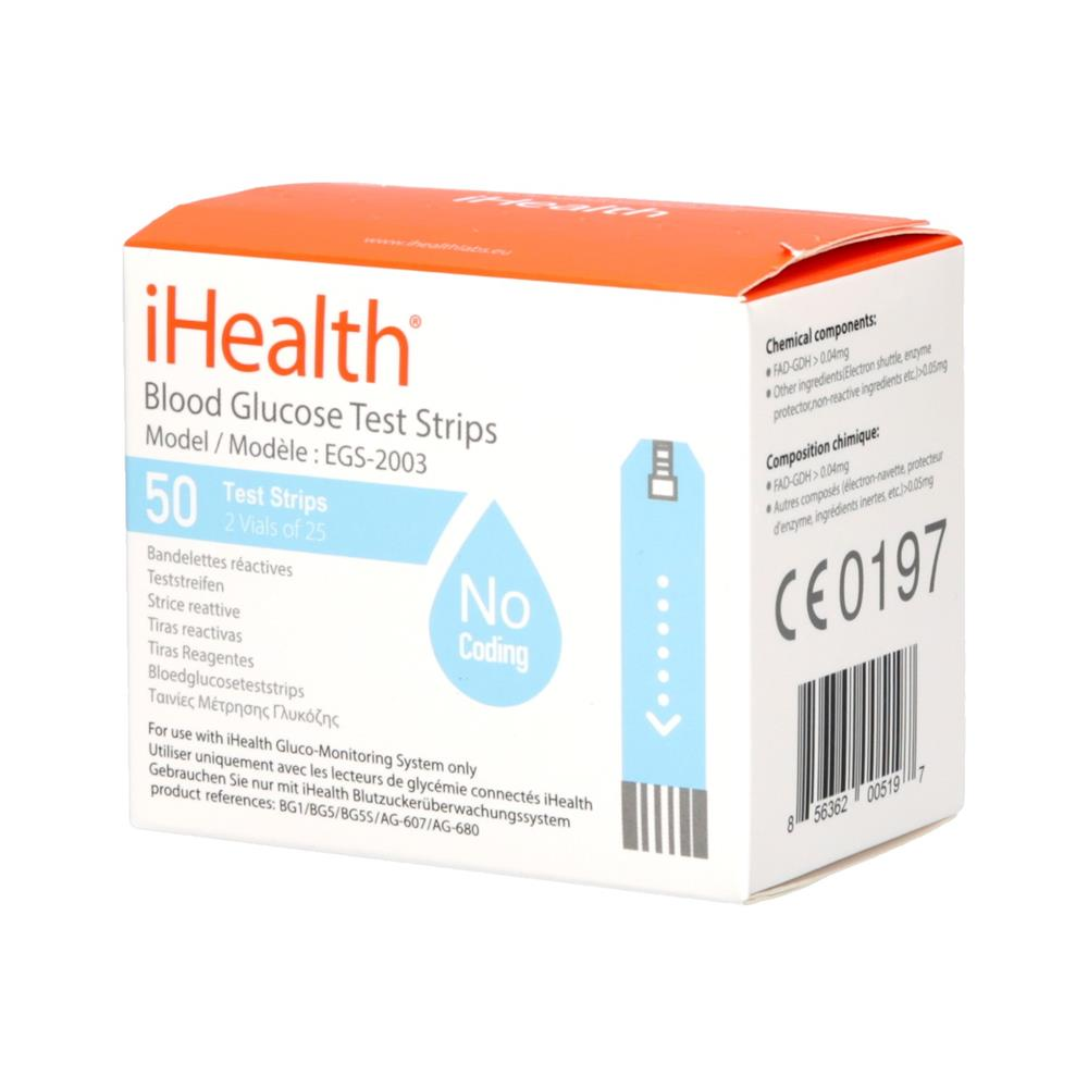 iHealth Testni lističi za merilnik krvnega sladkorja BG5 (EGS-2003)