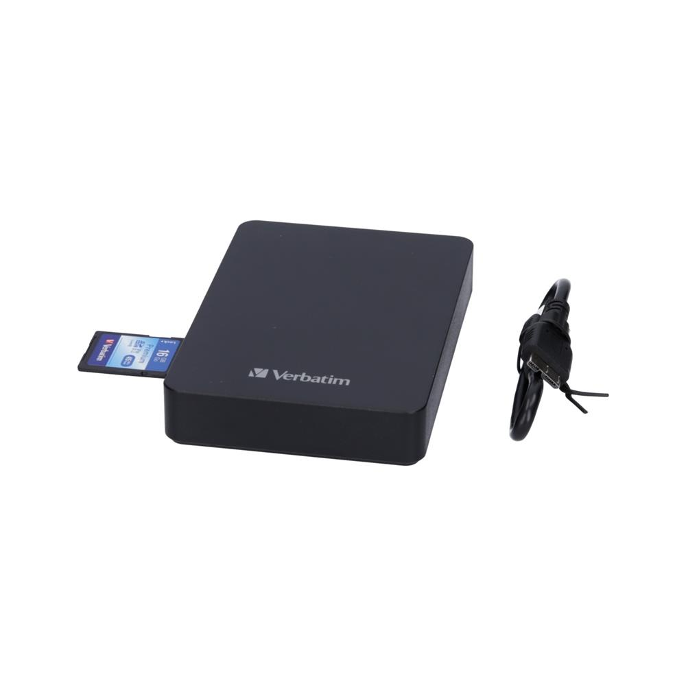 Verbatim Komplet znanji trdi disk USB 3.0 1TB in čitalec kartic in 16GB SD (HD2U3-VE-53421)