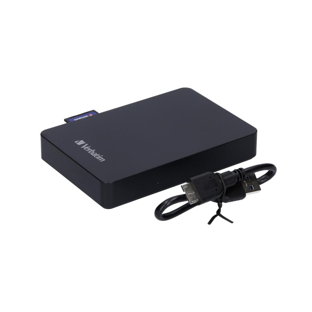 Verbatim Komplet zunanji trdi disk USB 3.0 1TB in čitalec kartic in 16GB SD (HD2U3-VE-53421)