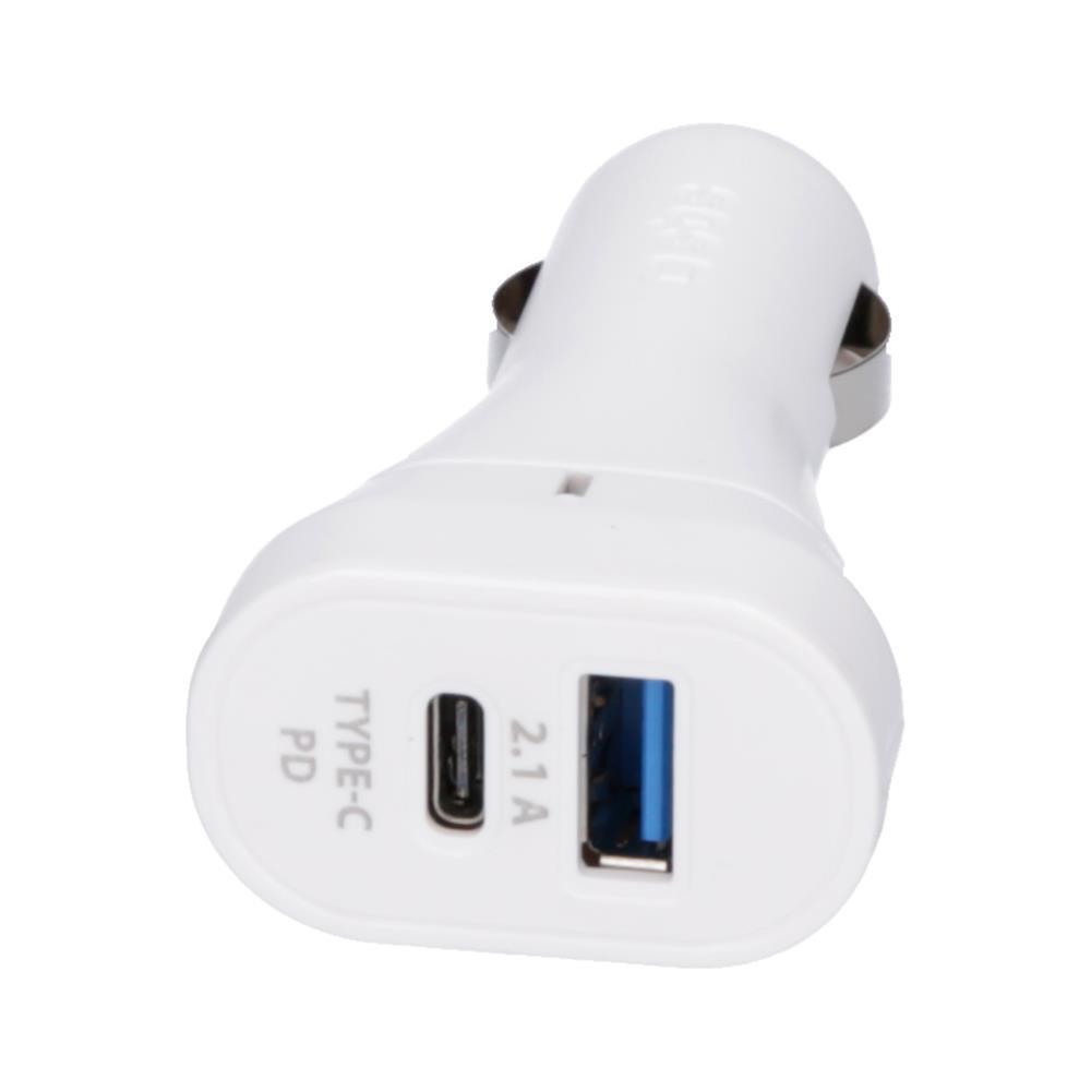 SBS Avtopolnilec z 2.1A USB FC in 18W Type-C (TECRPD18W)