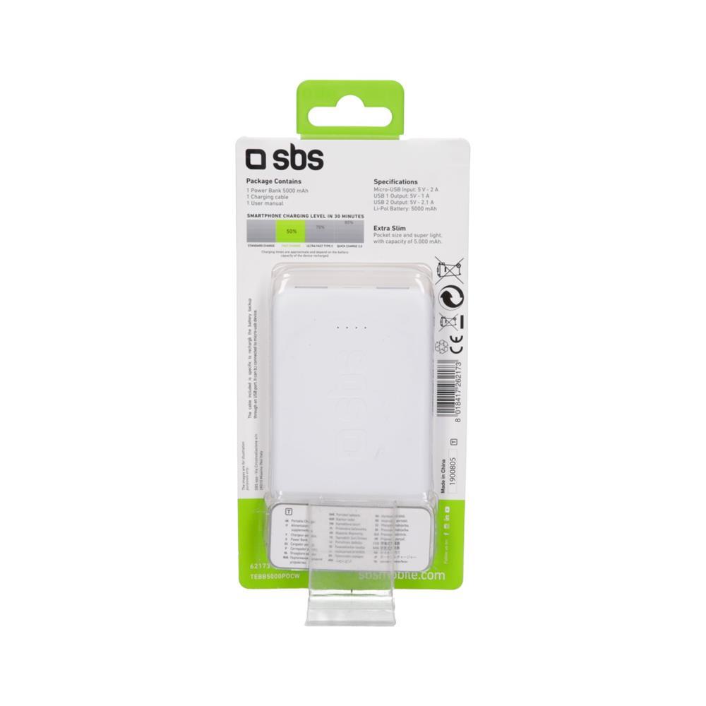 SBS Polnilna baterija Pocket (TEBB5000POCW)