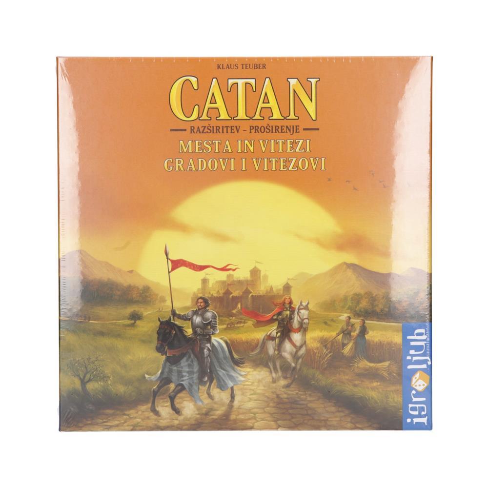 Igroljub Družabna igra Catan - razširitev igre Mesta in Vitezi