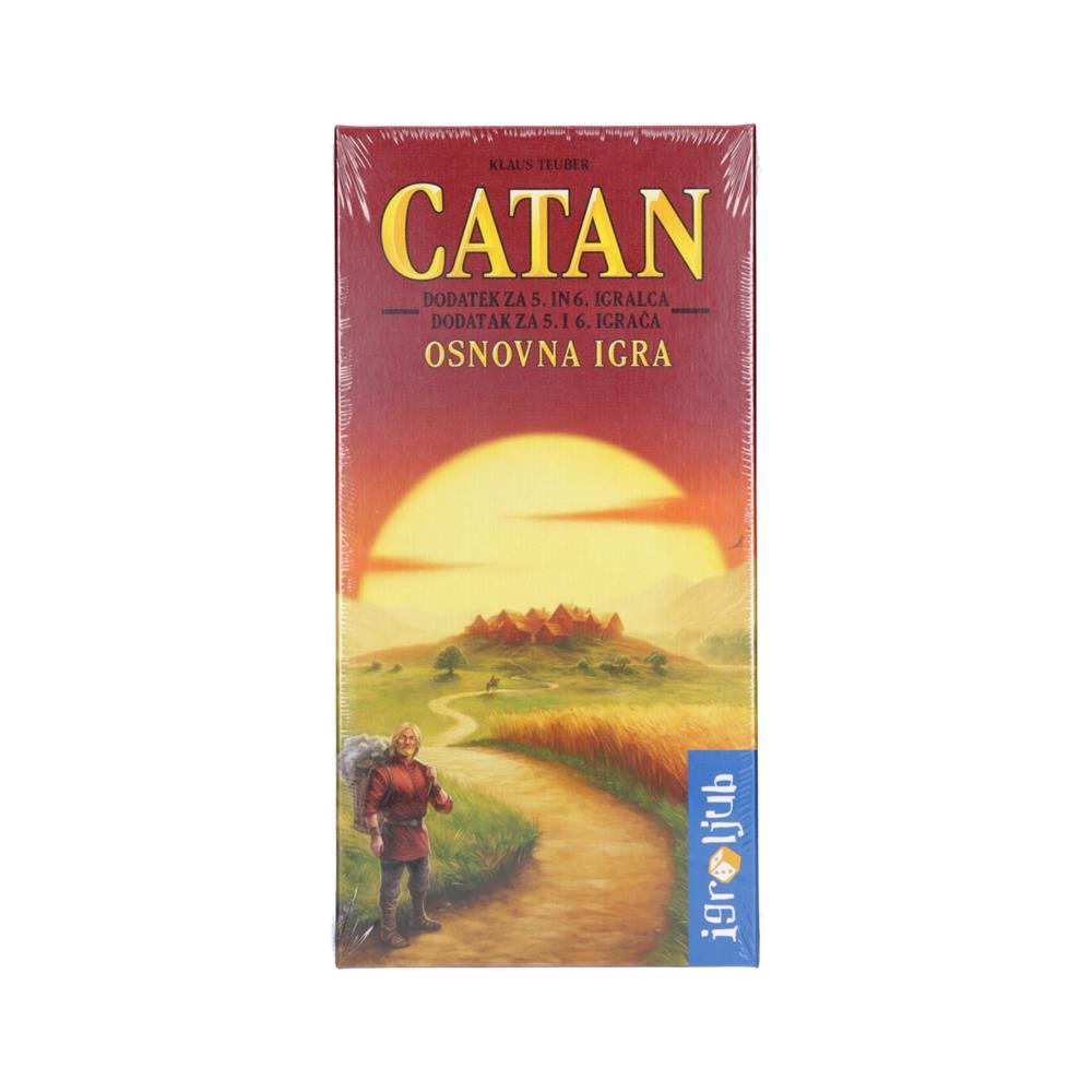 Igroljub Družabna igra Catan - osnovna (dodatek za 5. in 6. igralca)