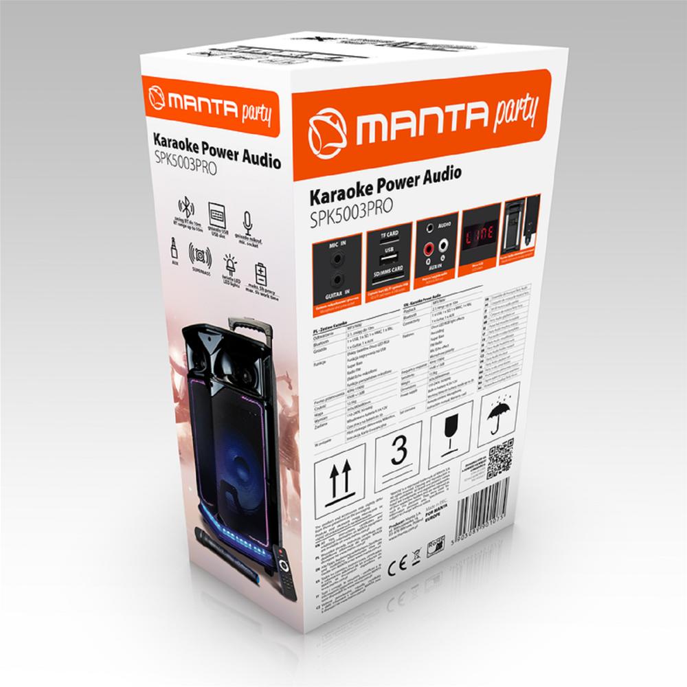 MANTA Karaoke zvočnik SPK5003 PRO