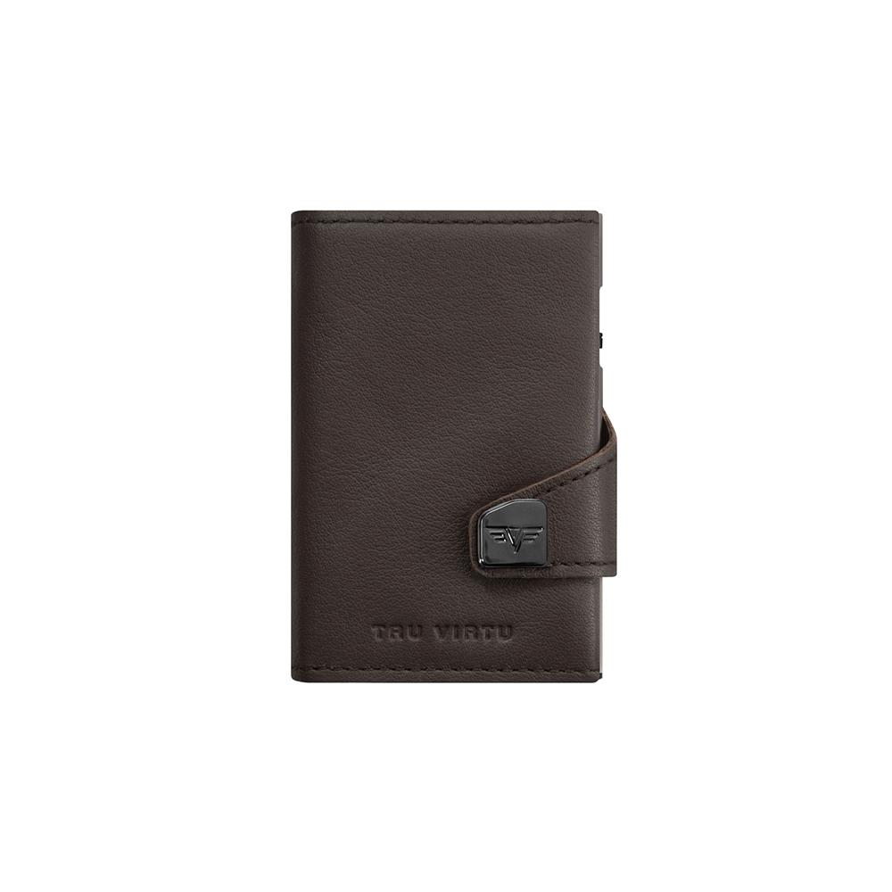 TRU VIRTU Pametna denarnica Click n Slide Nappa Brown/Silver