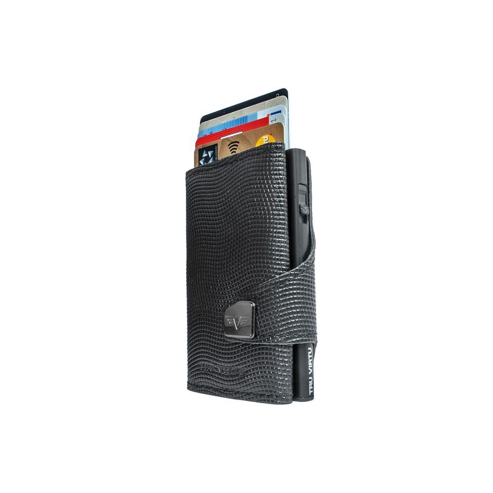 TRU VIRTU Pametna denarnica Click n Slide Lizard Black/Black