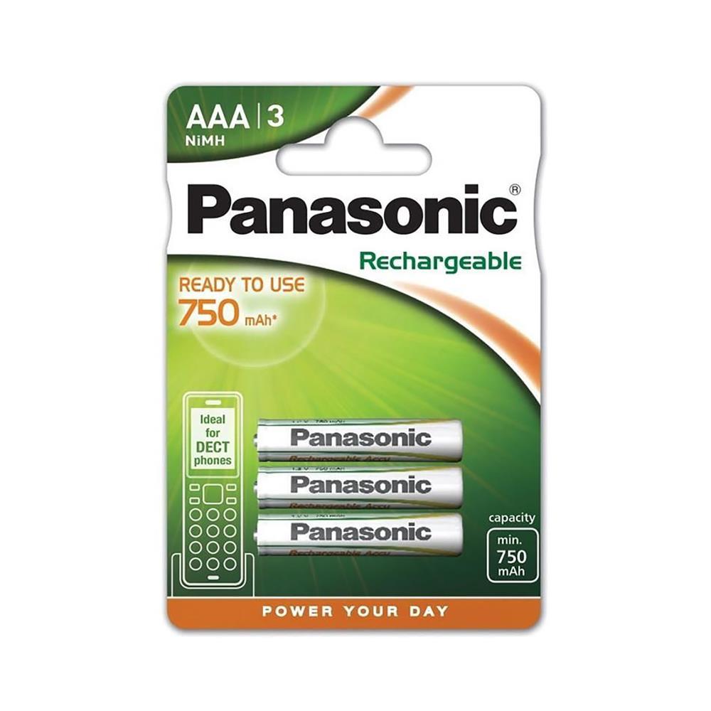 Panasonic NiMH polnilni baterijski vložek 3xAAA (HHR-4MVE/3BD)
