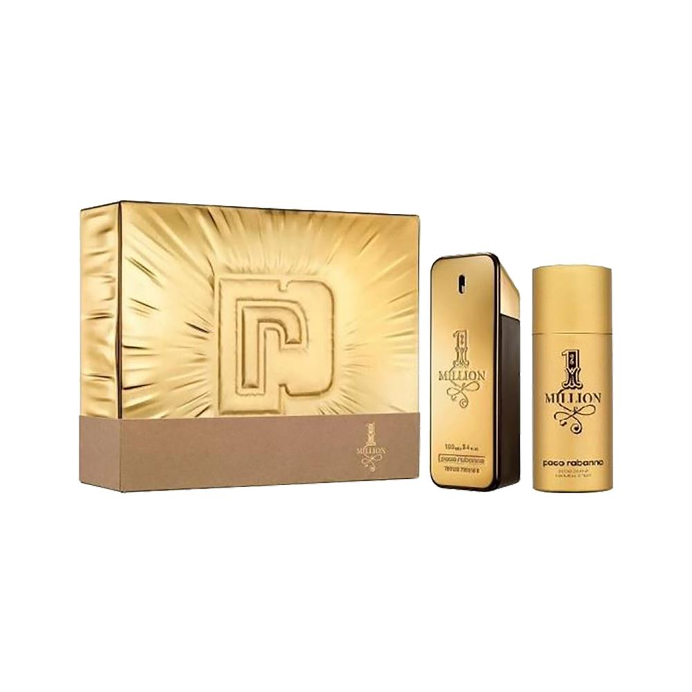 Paco Rabanne Moška toaletna voda 1 Million 100 ml in deodorant 150 ml