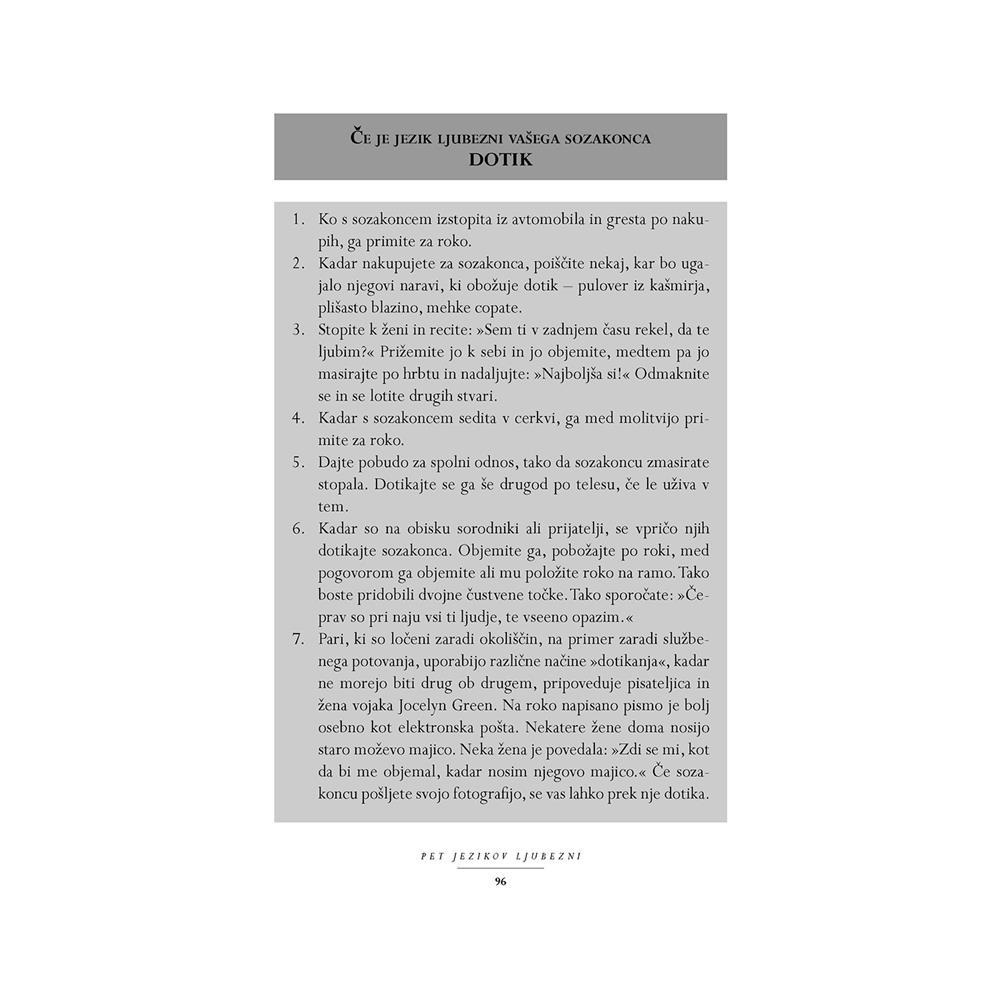 Založba Družina Knjiga 5 jezikov ljubezni: Skrivnost trajne ljubezni