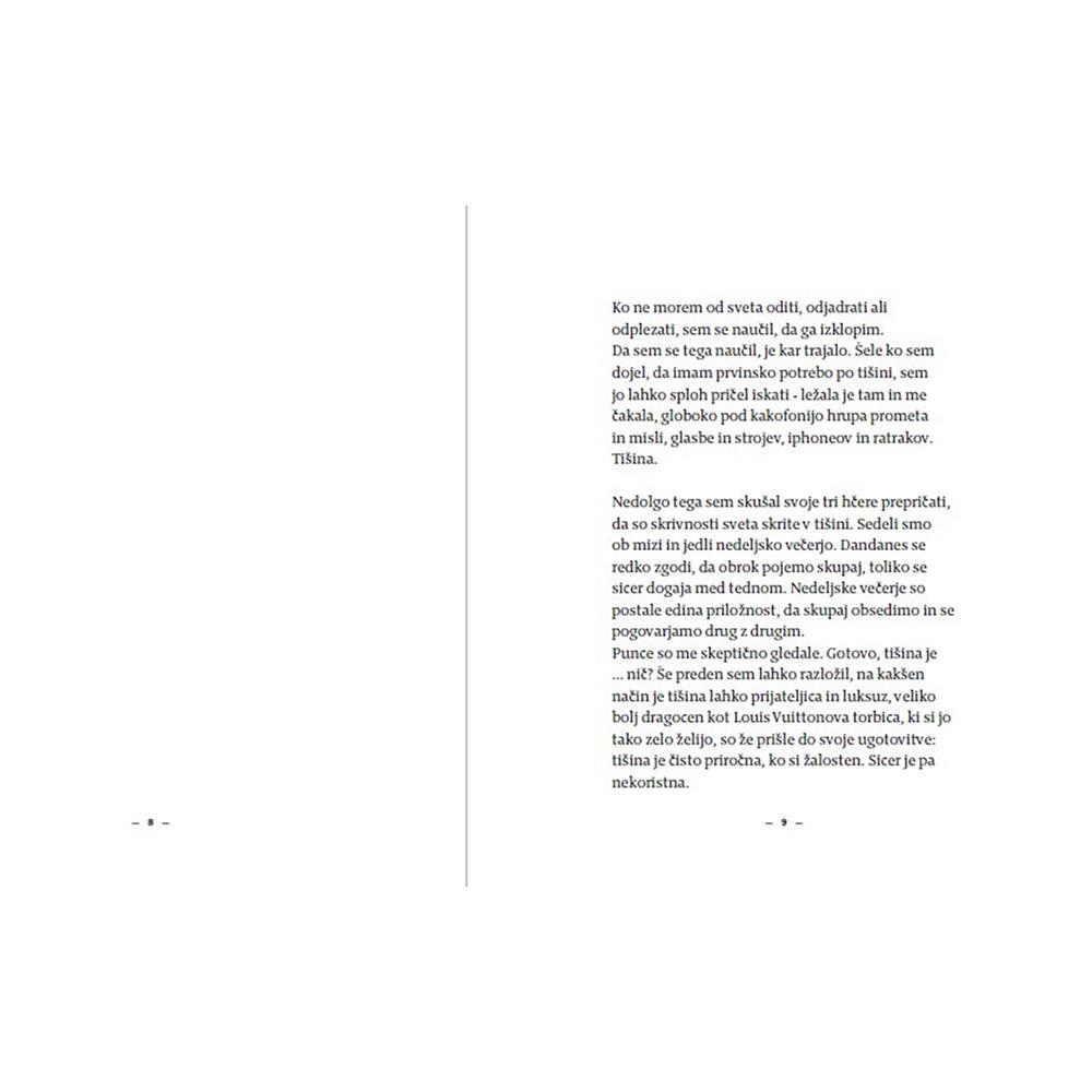Založba Vida Knjiga Tišina v času hrupa