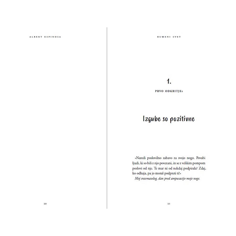 Založba Vida Knjiga Rumeni svet: Kako me je boj za življenje naučil živeti