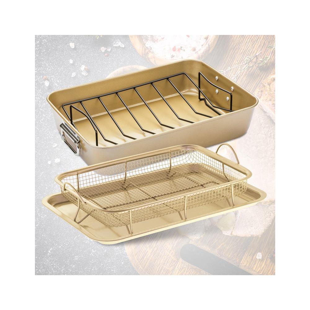 Rosmarino 2-delni set pekačev Baker Gold za meso