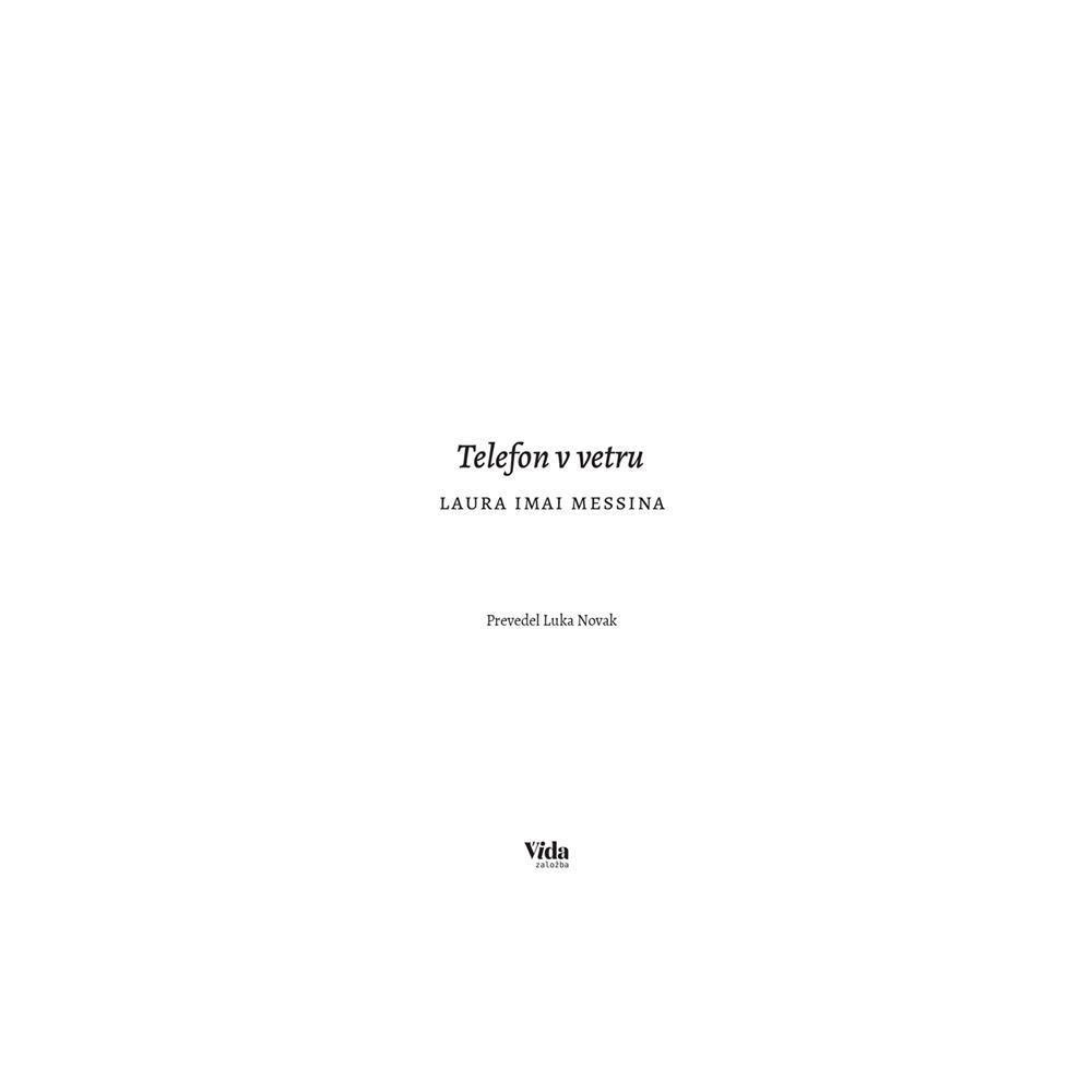 Založba Vida Knjiga Telefon v vetru