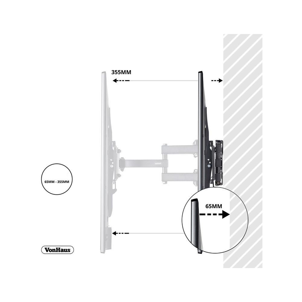 VonHaus Stenski pregibni nosilec za TV diagonale od 58,4 do 142 cm (VONTV-05/060)