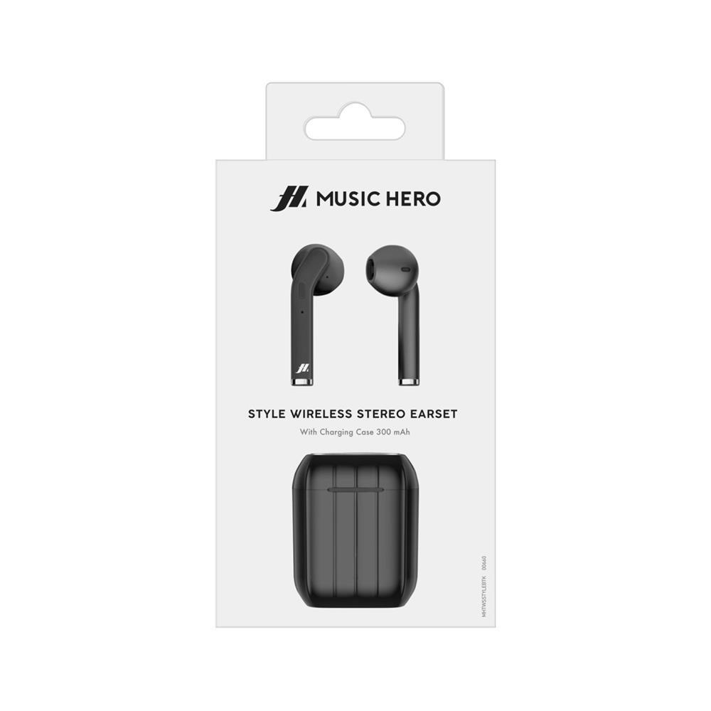 SBS Brezžične stereo slušalke Style Music Hero (MHTWSSTYLEBTK)