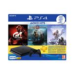 Sony Playstation® 4, komplet 3 iger (GOW, HZD in GTS) in 3-mesečna naročnina za Playstation® Plus 500 GB črna