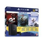 Sony PlayStation® 4 Pro, komplet 3 iger (GOW, HZD in GTS) in 3-mesečna naročnina za Playstation® Plus 1 TB črna