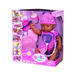 Zapf BABY born® dojenček temnopolta deklica roza