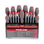 PROLINE Set izvijačev in nastavkov S2 soft touch (37-kosov) črno-rdeča