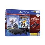 Sony PlayStation® 4 z igrami Spider-Man, Horizon ZD:CE in Ratchet & Clank 500 GB črna