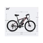E-Bike Električno gorsko kolo 29 črna