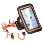 SBS Torbica in slušalke za šport (TEKITSPORTL) L črno-oranžna