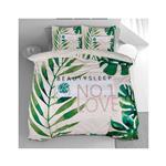 Svilanit Bombažna posteljnina Beauty Sleep 200x200 cm zelena roža