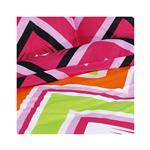 Svilanit Bombažna posteljnina Zig Zag Colors 200x200 cm pisana