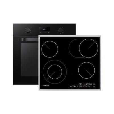 Samsung Komplet steklokeramična kuhalna plošča C61R2CAST/BOL in električna pečica NV70K1340BB/OL